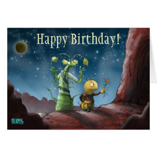 El espacio fastidia la tarjeta de cumpleaños de la