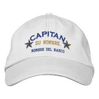 EL ESPAÑOL Capitan Nombre del barco y su nombre. Gorra Bordada