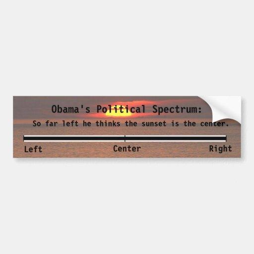 El espectro político de Obama Pegatina De Parachoque