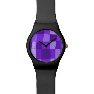 El espejo de la diversión llega la violeta reloj de mano