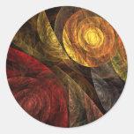 El espiral del pegatina redondo del arte abstracto