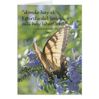 EL Espiritu, heno Libertad (Carta) del heno de Tarjeta De Felicitación