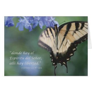 EL Espiritu, heno Libertad del heno de Donde del a Felicitacion