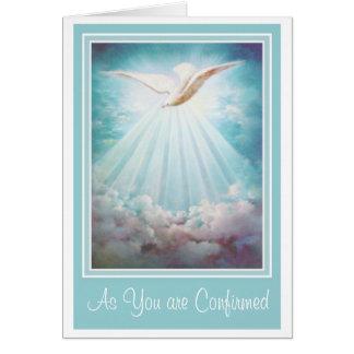 El Espíritu Santo de la confirmación se nubla Tarjeta De Felicitación