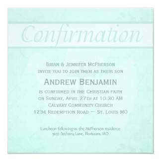 El Espíritu Santo de la confirmación se zambulló Invitación 13,3 Cm X 13,3cm