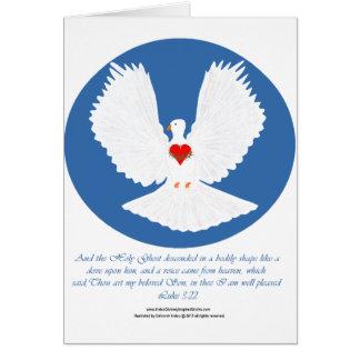 El Espíritu Santo descendido como una paloma Felicitacion