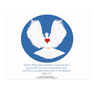El Espíritu Santo descendido como una paloma Postal