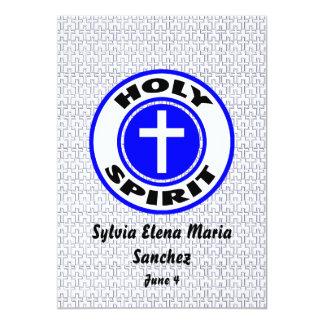 El Espíritu Santo invita Invitación 12,7 X 17,8 Cm