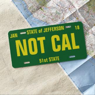 El estado de Jefferson personalizó la placa