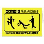 El estado de preparación del zombi Befriend lento  Felicitación