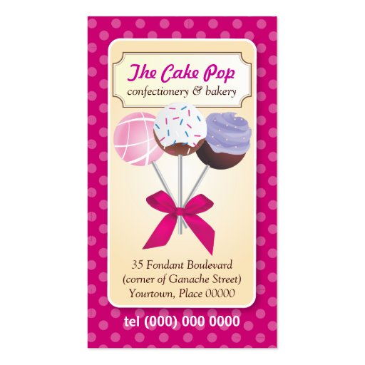 El estallido de la torta puntea la tarjeta de visi plantillas de tarjetas de visita