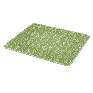 El estallido florece al tablero verde del corte de