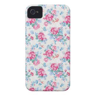 El estampado de flores elegante de los rosas del iPhone 4 Case-Mate carcasa