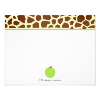 El estampado de girafa Apple verde personalizó al  Anuncios Personalizados