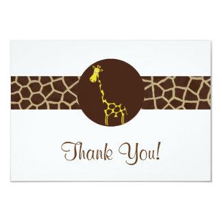 El estampado de girafa le agradece invitación 8,9 x 12,7 cm