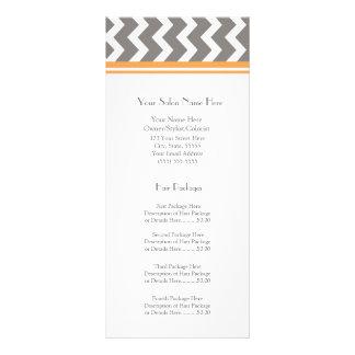 El estante de encargo del salón carda Chevron gris Lonas Personalizadas