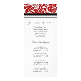 El estante de encargo del salón carda el damasco n tarjeta publicitaria personalizada