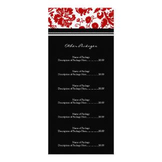 El estante de encargo del salón carda el damasco tarjeta publicitaria a todo color
