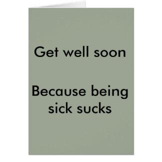 El estar enfermo chupa la tarjeta