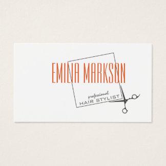 El estilista del corte de pelo Scissors la tarjeta