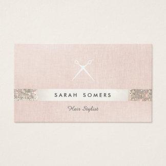 El estilista Scissors el FALSO salón del rosa de Tarjeta De Visita