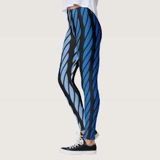 El estilo azul de la cuerda raya la decoración leggings