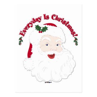 ¡El estilo Santa del vintage diario es navidad! Postal