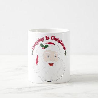 ¡El estilo Santa del vintage diario es navidad! Taza