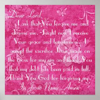El estimado señor me perdona y me limpia poster