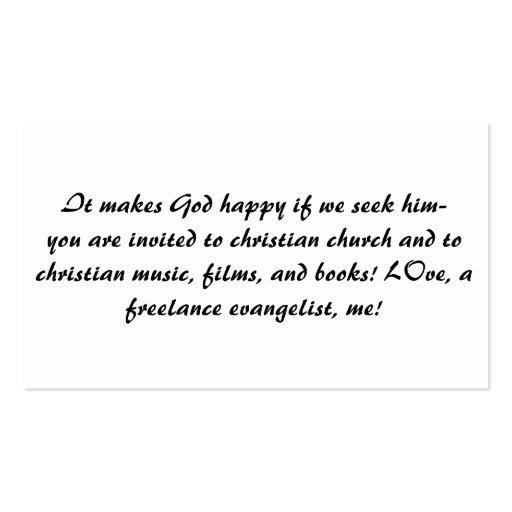 El evangelista/el cristiano/la iglesia de la tarjeta de visita
