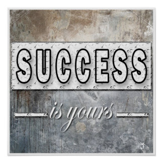 El éxito es el suyo poster de motivación de las il