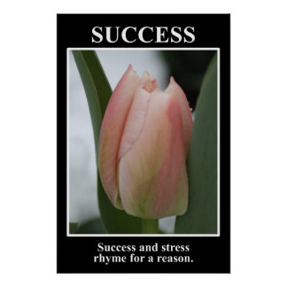 El éxito rima con la tensión por una razón (l) póster