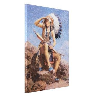 El explorador de Leigh, indio del nativo americano Lienzo Envuelto Para Galerías