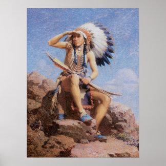 El explorador de Leigh, indio del nativo americano Impresiones