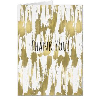 El extracto atractivo del oro le agradece tarjeta pequeña