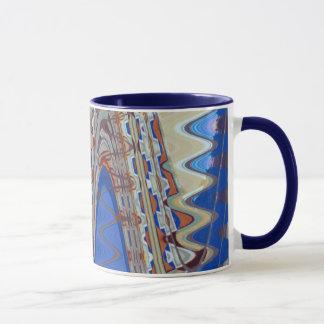 el extracto azul agita la taza de café