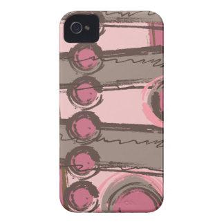 El extracto circunda el rosa urbano Brown del iPhone 4 Case-Mate Carcasa