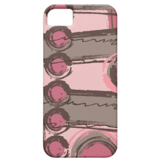 El extracto circunda el rosa urbano Brown del iPhone 5 Case-Mate Coberturas