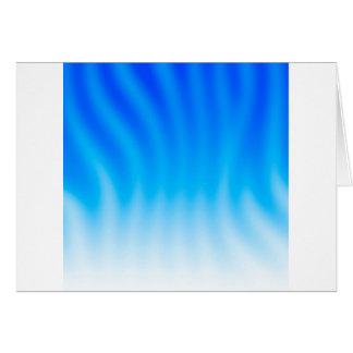 El extracto colorea calor azul tarjeta de felicitación