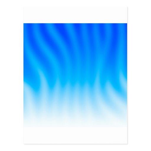 El extracto colorea calor azul tarjetas postales