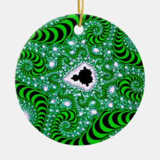 El extracto colorea gusanos verdes ornaments para arbol de navidad