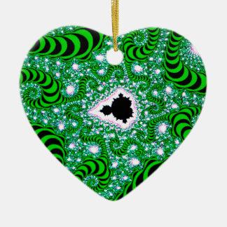 El extracto colorea gusanos verdes ornamento de navidad