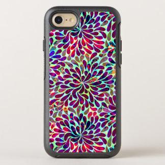 El extracto colorido florece el modelo inconsútil funda OtterBox symmetry para iPhone 8/7