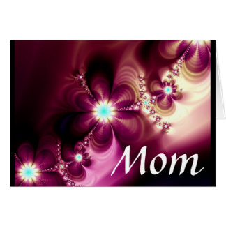 El extracto florece a la mamá 4 tarjeta de felicitación