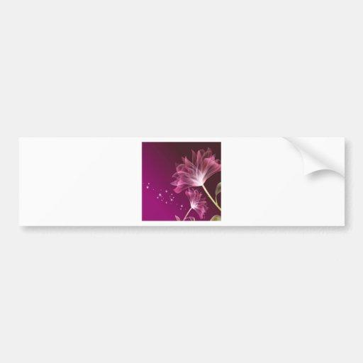 El extracto florece amistad púrpura etiqueta de parachoque