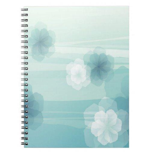El extracto florece amor azul libros de apuntes con espiral