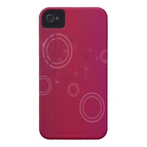 El extracto florece círculos púrpuras iPhone 4 Case-Mate protector