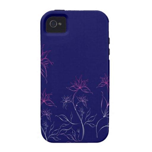 El extracto florece el extracto azul iPhone 4/4S carcasa