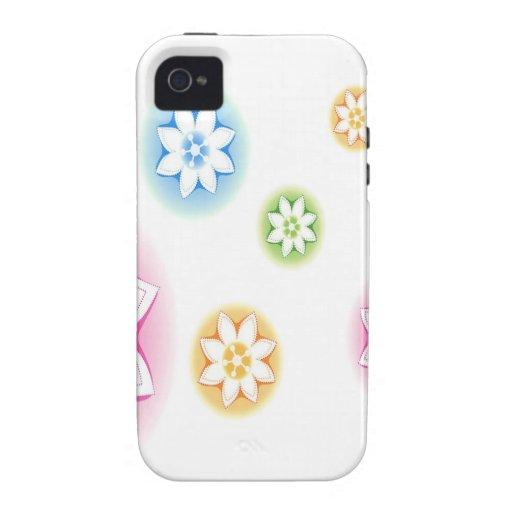 El extracto florece el extracto blanco iPhone 4/4S carcasa