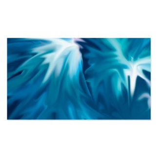 el extracto florece la aguamarina plantillas de tarjetas de visita